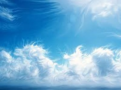 céu azul.cores