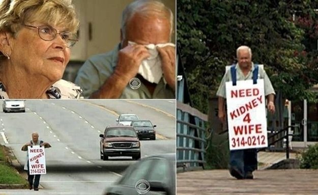 Um homem faz tudo que pode para ajudar a salvar a vida da sua mulher.