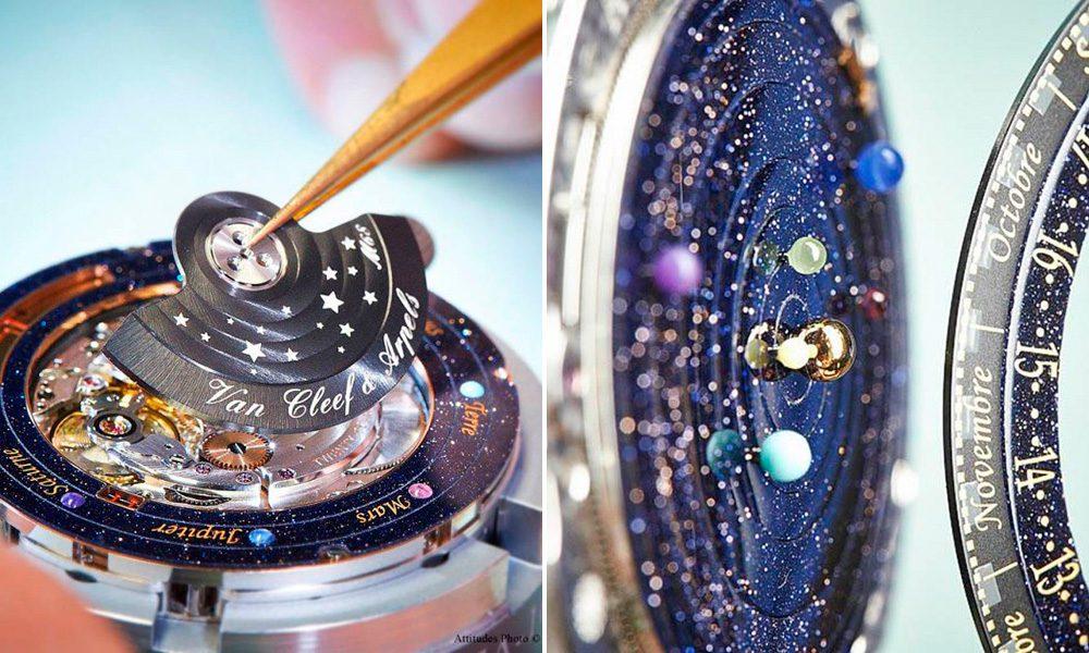 6b1adbb3df6 É um trabalho de design e engenharia absolutamente incrível  uma autêntica  viagem interplanetária pra ser colocada no seu pulso. O Midnight  Planétarium é um ...