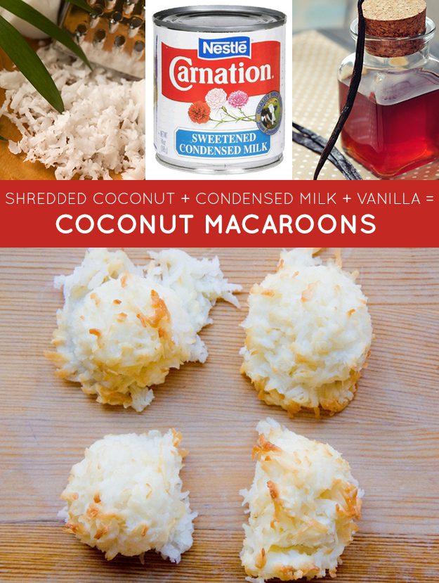 Coco ralado + leite condensado + baunilha = macarons de coco