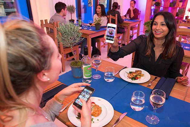 The world's first pay-by-picture restaurant opens today