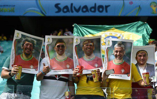 2° lugar: portugueses que viraram figurinhas do álbum da Copa.