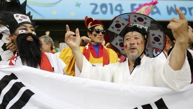 3° lugar: coreanos usando seus melhores trajes.