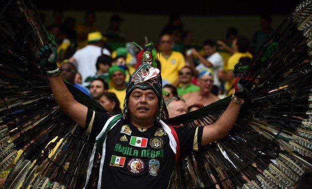 9° lugar: este mexicano com uma fantasia que não deve ser fácil de carregar.