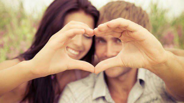 Couple heart love