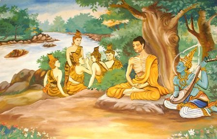 Ascetic_Bodhisatta_Gotama_with_the_Group_of_Five1