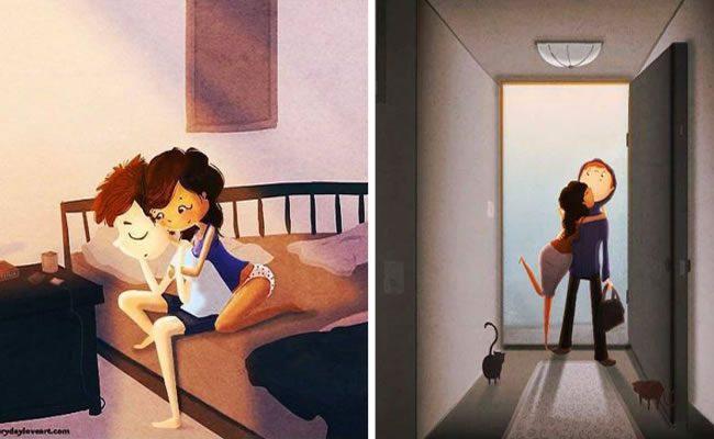 este artista belamente ilustrou como é o amor