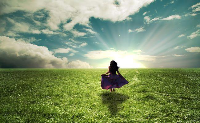 paz interior numa afirmação de luz