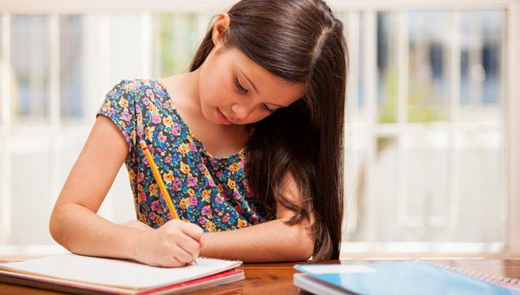criança estudar