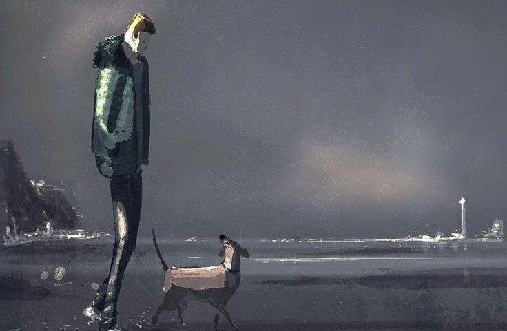 hombre-paseando-con-su-perro-disfrutando-de-su-forma-de-ser