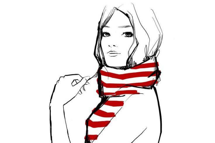 mujer-con-bufanda-roja-disfrutando-de-su-forma-de-ser