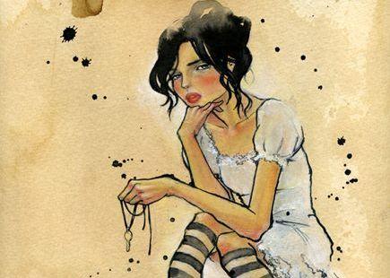 mujer-libre-cabello-negro-sentada