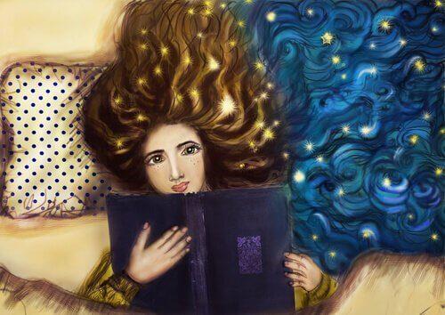 Mujer-reflexionando-leyendo-un-libro