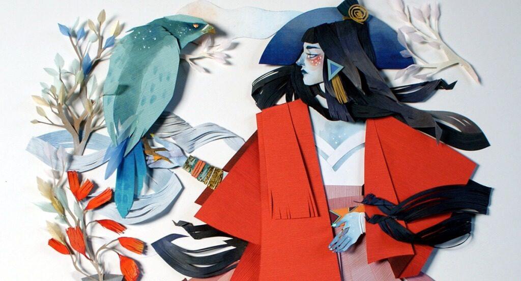 Mulher-com-casaco-vermelho