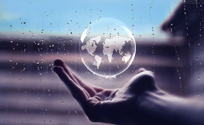 seu mundo em suas mãos