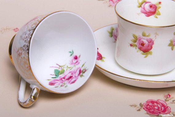 Flower English China Teacups