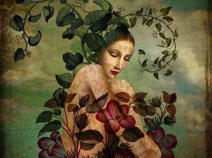 mulher-plantas