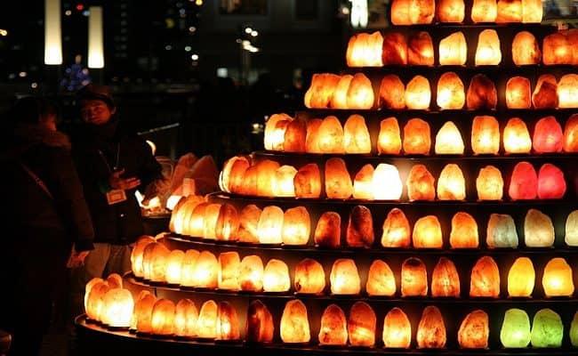 lâmpadas de sal