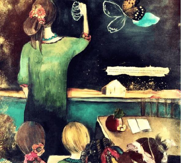 professora-com-crianças-na-aula