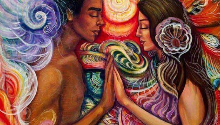O mistério da atração mental duas almas que se acariciam