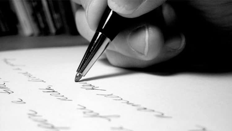 A sua escrita revela a sua personalidade