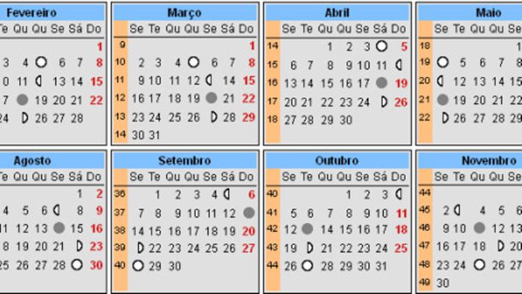 Calendário Lunar 2015 Gravidez