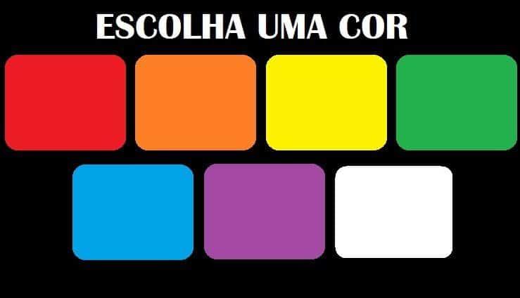 escolha a cor que 1