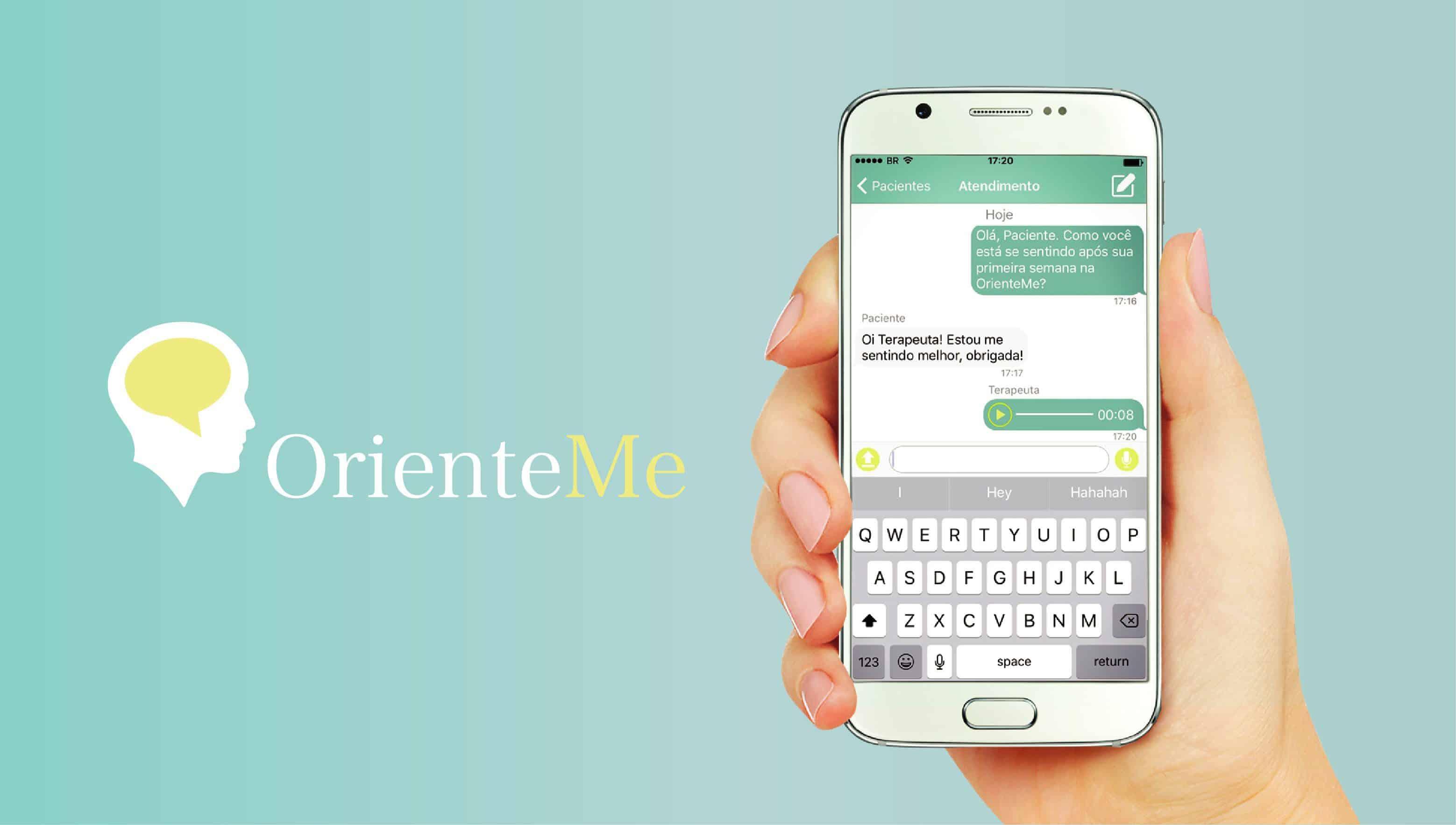OK OrienteMe Logo Celular Vetor