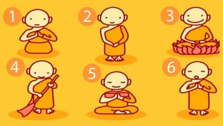 escolha um monge budista