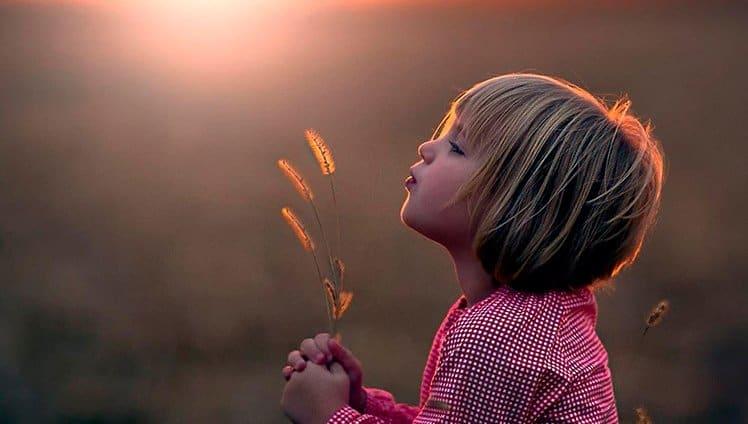 A beleza de uma criança