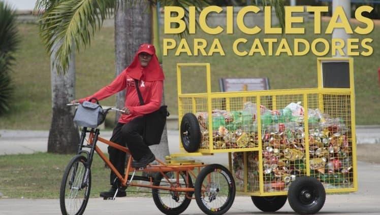 catadores ganham bicicletas