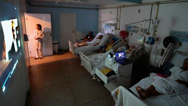 cinema no hospital é o novo projeto