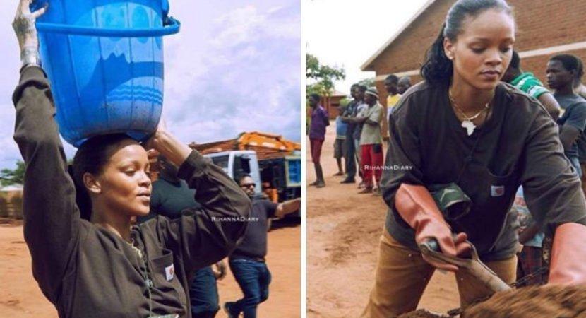 Rihanna busca água