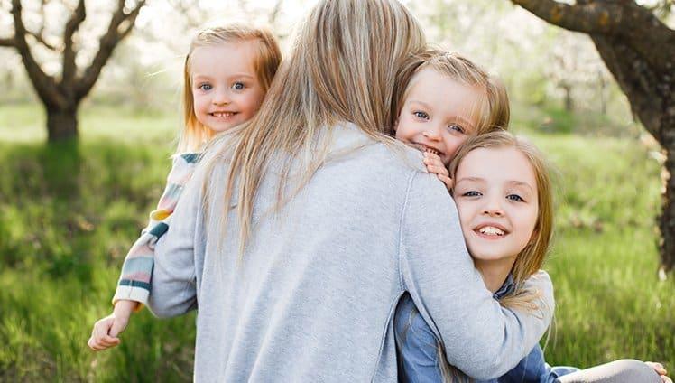 Ser mãe de três meninas