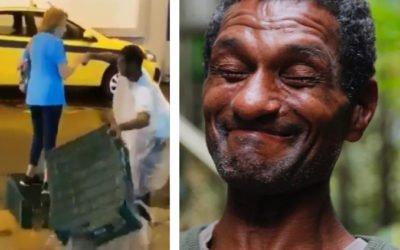 Homem que ajudou idosa