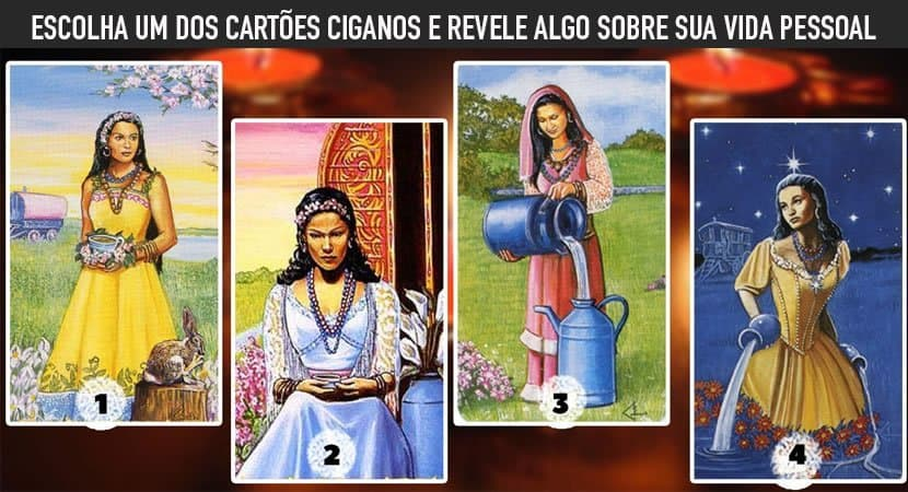 escolha um dos cartões ciganos