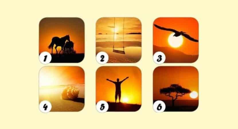escolha um pôr do sol