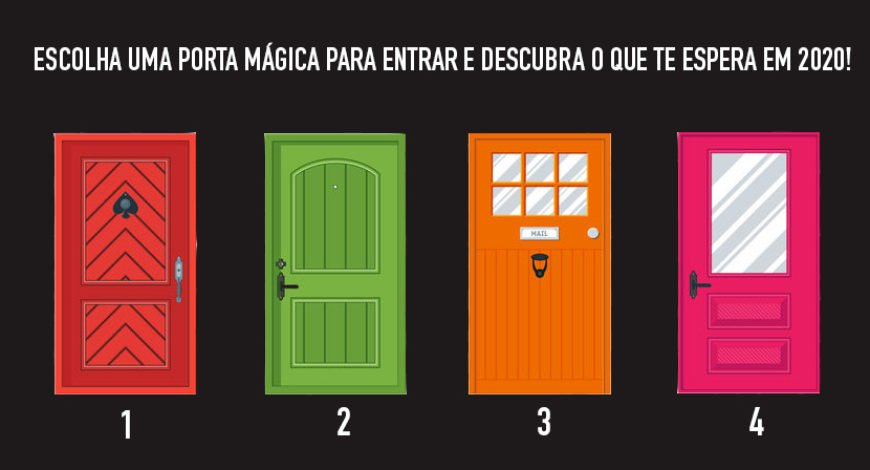 escolha uma porta mágica