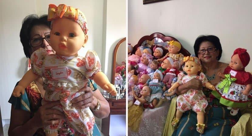 viralcostureira restaura bonecas