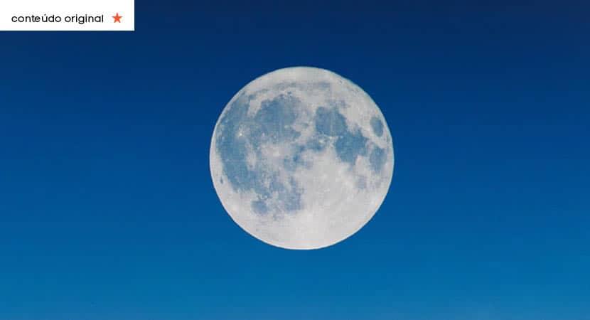 Lua cheia do dia 1 a primeira Lua Azul de outubro