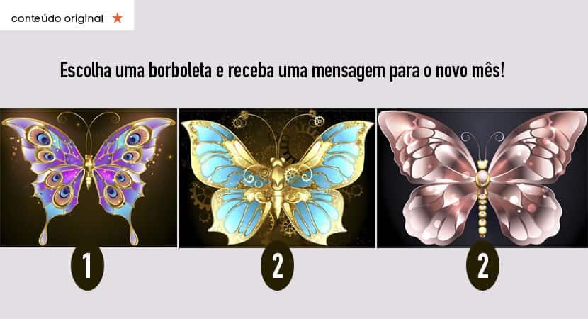 escolha uma borboleta e receba uma mensagem poderosa para o seu novo mês