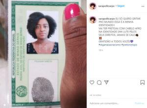 3agora eu me reconheço diz mulher que teve cabelo apagado na foto do RG e fez novo documento