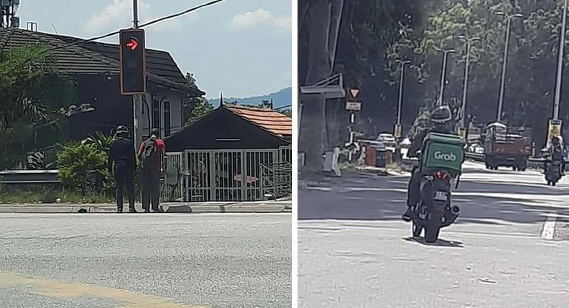 3entregador solidário parou a sua moto para ajudar um senhor cego a atravessar a rua