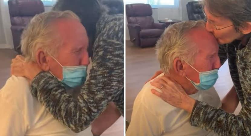 Idosos casados há 60 anos choram de felicidade em reencontro após 215 dias separados