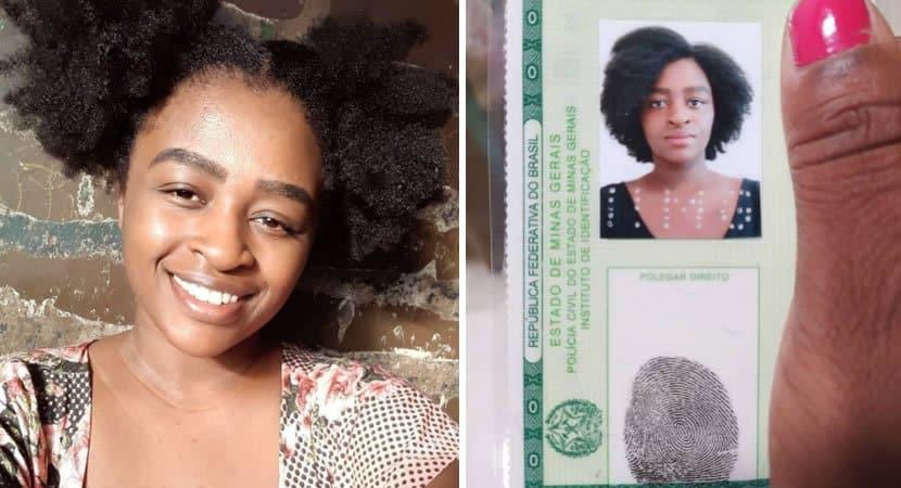 capaagora eu me reconheço diz mulher que teve cabelo apagado na foto do RG e fez novo documento