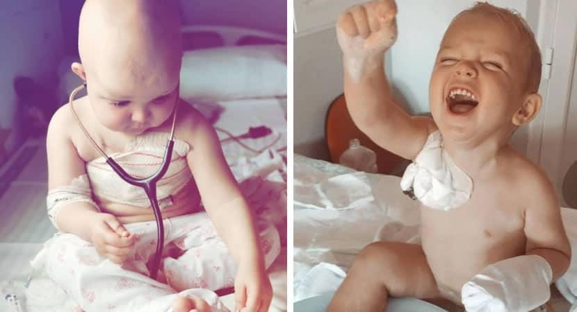 capaapós quase 2 anos menino com câncer conseguiu um doador um cordão umbilical salvará a sua vida
