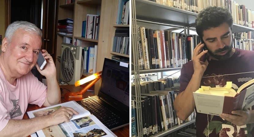 capavoluntários de biblioteca leem livros por telefone a idosos ajuda a combater sua solidão