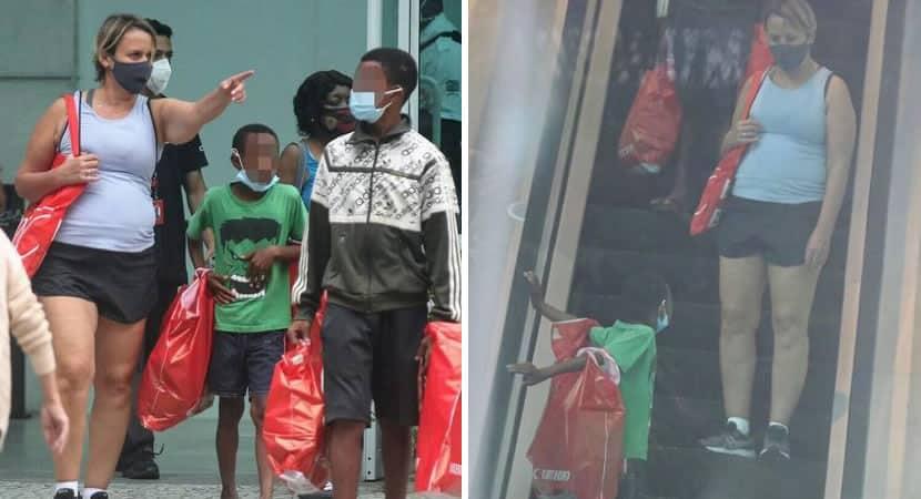 giulia Gam leva crianças que vendiam bala para passear compra presentes e se emociona