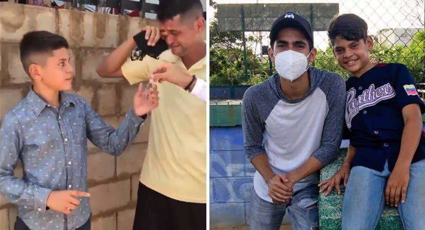 menino de 13 anos que cantava na rua para comprar comida ganha casa nova e chora de emoção