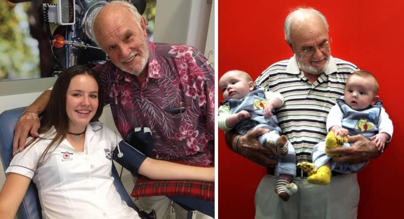 4vovô de 83 anos com sangue raro já fez mais de 1000 doações e salvou a vida de 2 milhões de bebês 2